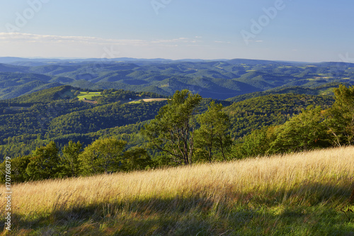 View of the Allegheny Plateau near Thomas, West Virginia Canvas Print
