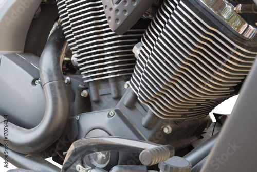 motorcycle chrome metal grille Fototapeta