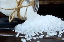 White Salt On Table