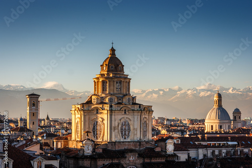 The church of San Lorenzo, Turin, Italy Canvas Print