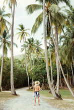 Man In Tropical Resort