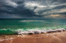 Dark Clouds At Miami Beach, Hu...
