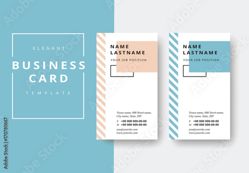 Vertical business card layout with striped sidebar buy this stock vertical business card layout with striped sidebar friedricerecipe Image collections