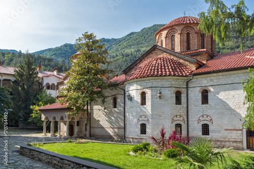 Panoramic view of Medieval Bachkovo Monastery, Bulgaria