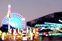 Abstract Blur Lights Of Ferris...