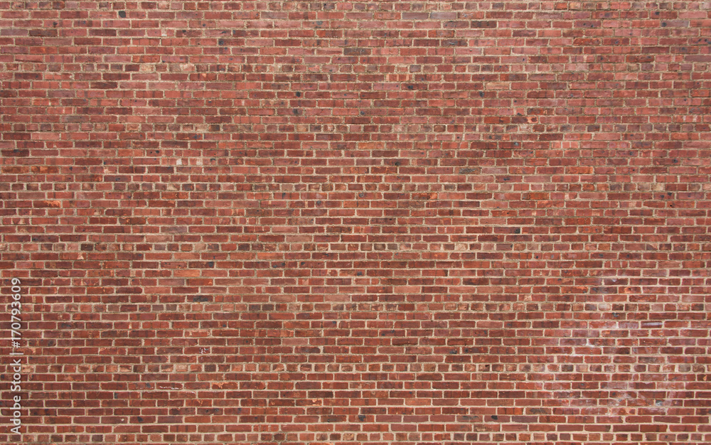 Fototapety, obrazy: Red Brick Wall with Horizontal Pattern