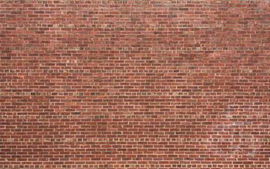 Czerwony ceglany mur z poziomym wzorem