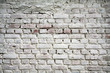 Old brick wall with white