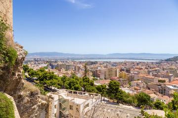 Fototapeta na wymiar Cagliari, Sardinia, Italy. City view from the top point