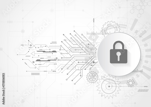 Abstract Security Digital Technology Protection Concept Background
