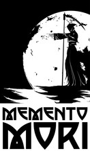 Memento Mori. Death In The Background Of The Moon, Indicating The Path.