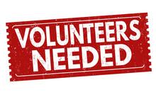 Volunteers Needed Sign Or Stamp
