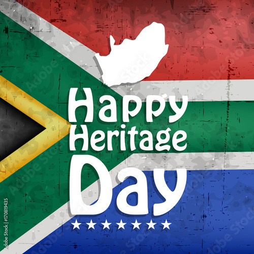 Fotografie, Obraz  illustration of elements of South Africa Heritage Day Background