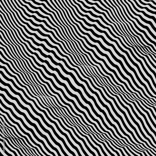 3d-wavy-background-dynamic-effect-black-and-white-design-pattern-with-optical-illusion-vector-illustration