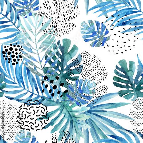 abstrakcjonistyczna-palma-monstera-lisc-bezszwowy