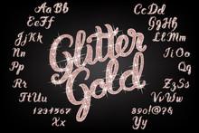 Glitter Rose Gold Handwritten ...