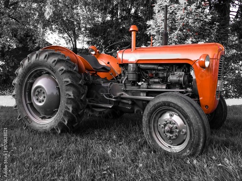 old tractor Canvas