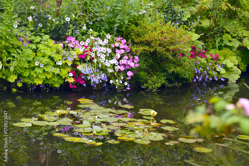 Foto  Beautiful Claude Monet's Garden of Giverny, lilies pond