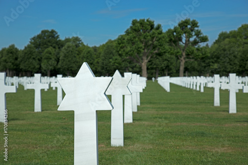 Spoed Foto op Canvas Begraafplaats Friedhof Soldatenfriedhof