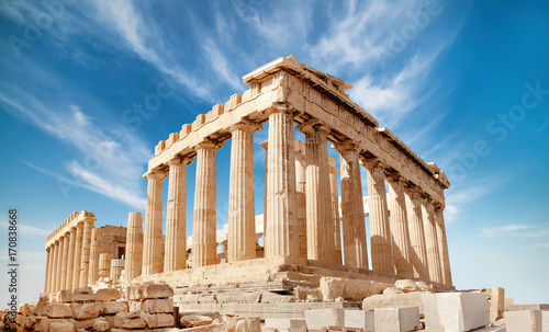 Foto op Aluminium Rudnes Parthenon on the Acropolis in Athens, Greece