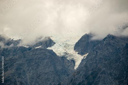 Poster Light pink Part of Franz Josef glacier, New Zealand