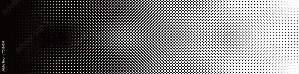 Fototapeta Seamless Screentone Graphics_Halftone Gradation_Black