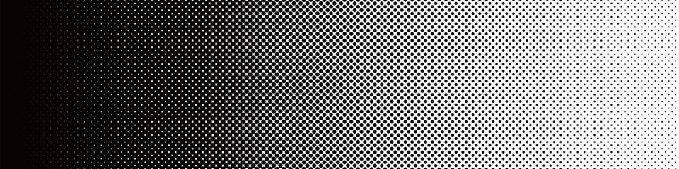 Seamless Screentone Graphics_Halftone Gradation_Black