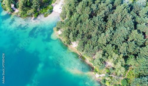 Fotobehang Olijf Aerial landscape of mediterranean sea