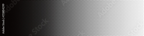 Fotomural Seamless Screentone Graphics_Halftone Gradation_Black