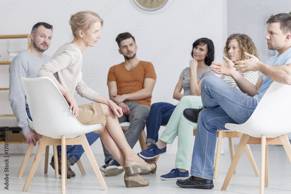 Fototapeta Coaching session in group