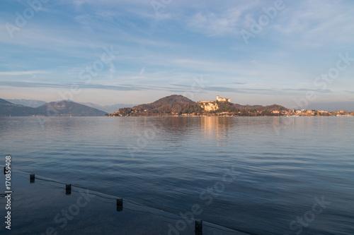 Fotografering  Lungolago di Arona, Lago Maggiore, Novara, Piemonte, Italia