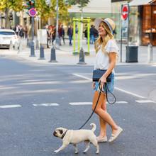 Young Woman Crosses A City Str...