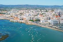 Aerial View Of Faro, Algarve, ...