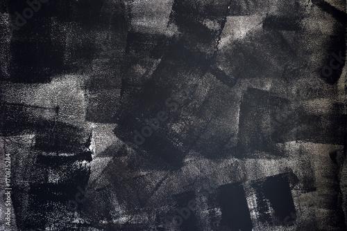 Fotografie, Obraz  Rough grunge texture of uneven paint strokes