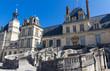The famous Royal Fontainebleau castle, France