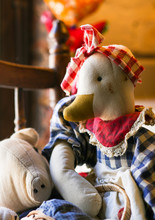 Cute Old Vintage Duck Fabric D...