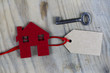 Symbol of the Red House with Key