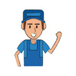 Mechanic worker cartoon icon vector illustration graphic design