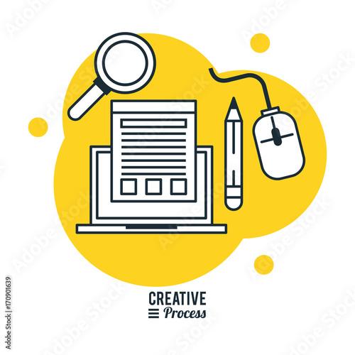 Creative process infographic icon vector illustration ...