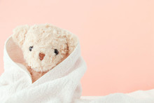 Teddy Bear Covered By A Towel ...