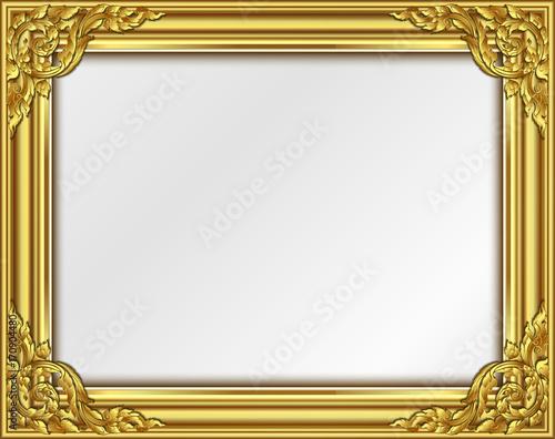 Gold border design, frame photo template, certificate