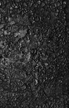Black Soot On Metal Background