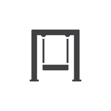 Swingset Icon Vector, Filled F...