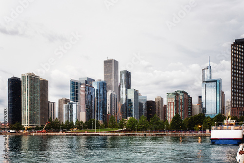 Skyscrapers along Lake Michigan