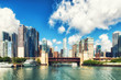 Chicago River and skyscrappers