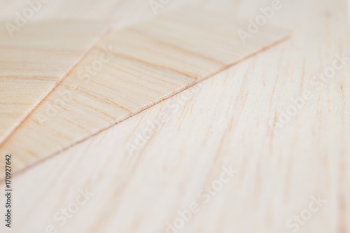 Balsa wood smooth background. Perspective view. Canvas Print