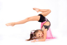 Flexible Little Girl Gymnast D...