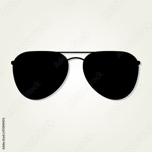 Tableau sur Toile Aviator Sunglasses icon isolated on white background.
