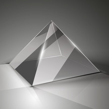 Glass Cube On A Transparent Background With Highlights