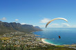canvas print picture - Paragliding - Cape Town - South Africa